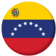 Venezuela State Country Flag 58mm Keyring